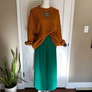 Vintage ❤️ 100% Silk Skirt ❤️ Turquoise